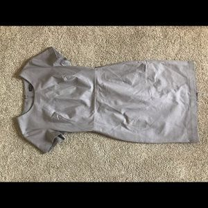 banana republic size 6 grey fitted dress